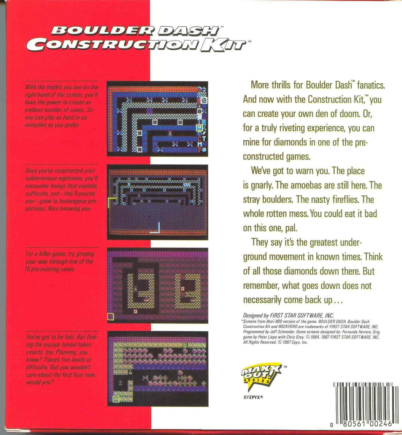 Boulder dash construction kit  игры для zx-spectrum